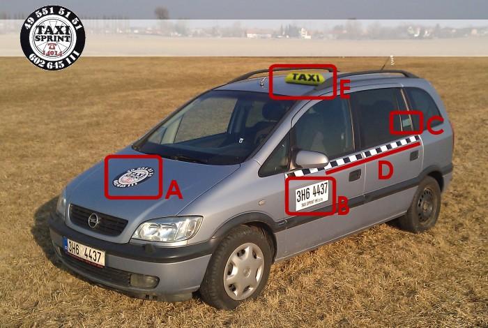 Taxi Sprint Hk Oznaceni Nasich Vozidel Taxi Hradec Kralove